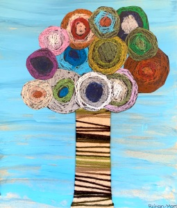 Mixed media tree
